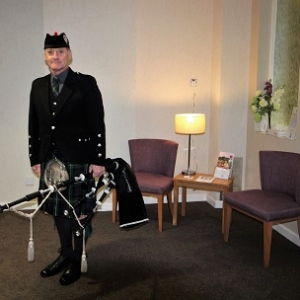 Bagpiping Barry Funeral