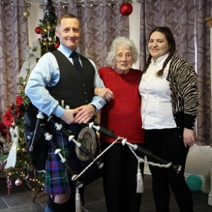 Llantrisant Care-Home Bagpiping