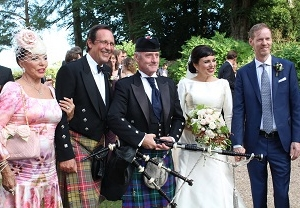 Bagpipes Wedding Somerset