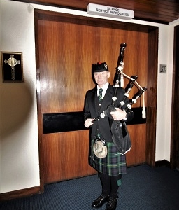 Funeral, Bagpiping, Narbeth.