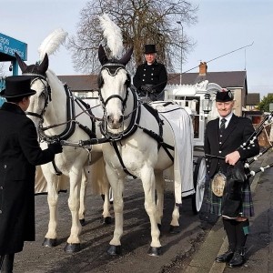 Funeral, Bagpiping, Ely-Cardiff