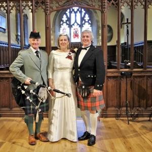 Wedding, Bagpipes, Rumney-Cardiff,