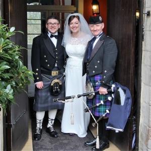 Wedding, Bagpipes, Fonman-Castle,