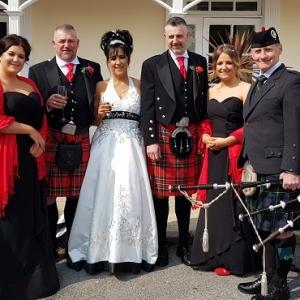 Wedding, Bagpipes, Mumbles,