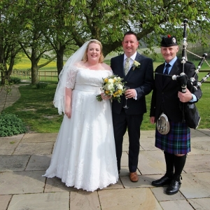 Wedding, Bagpipes, Calne-Wilts