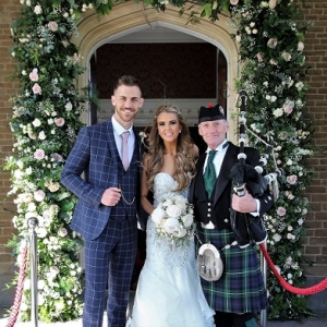 Wedding-Reception, Bagpipes, Hensol-Castle,