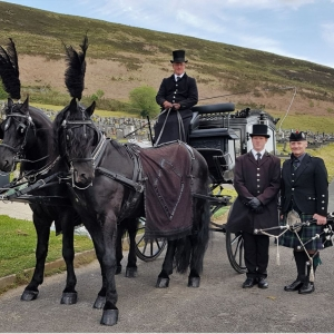 Funeral, Bagpipes, Trealaw,