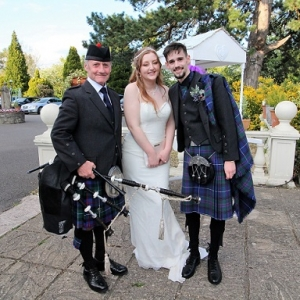 Wedding-Reception, Bagpipes, Sully-Penarth