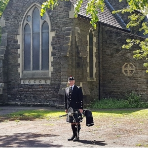 Funeral, Bagpiping, Newport-Gwent