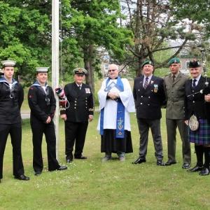 Falklands-Memorial, Bagpipes, Swansea,