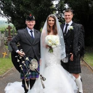Neath-Dyffryn, Wedding, Bagpipes