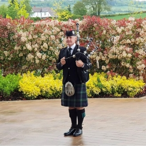 Funeral, Bagpipes, Newport-Gwent