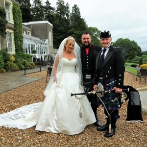 Cardiff, Wedding, Bagpipes,