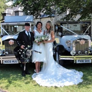 Wedding, Bagpipes, St-Donats-Castle,