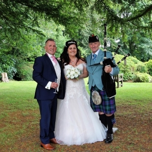 Maes-Manor, Wedding, Bagpipes,