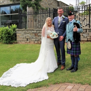 Canada-Lodge-Lake, Wedding, Bagpipes,