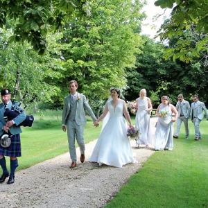South-Cerney-Gloucs, Wedding, Bagpipes,