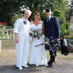 Wedding, Bagpipes, Sully-Penarth,