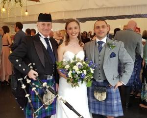 Wedding, Bagpipes, Llechwen-Hall-Hotel,