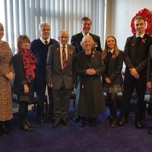 Remembrance, Bagpipes, John-Frost-School-Duffryn,
