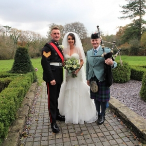 Bryngarw-House, Wedding, Bagpipes,