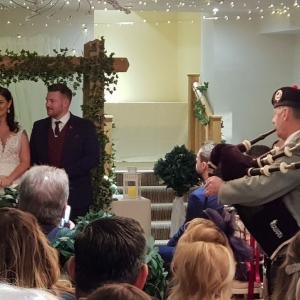 Wedding, Bagpipes, John-Frost-School-Duffryn,