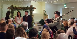 Wedding, Bagpipes, New-Gower-Hotel,