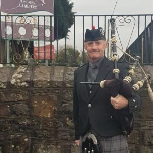 Llanharan-Pontyclun, Funeral, Bagpiping,