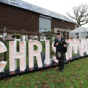 Christmas-Fayre-Bagpiping, Lakeside-Venue, Bridgend,