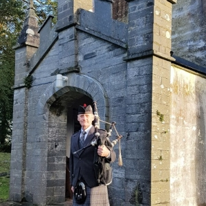Funeral, Bagpiping, Boncath-Pembs,
