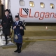 Loganair-Cardiff-Airport, Route-Launch, Bagpiping,