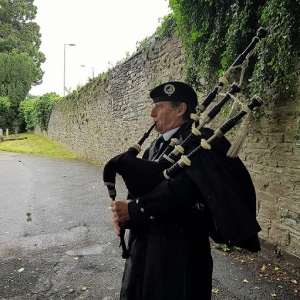 Funeral, Bagpiping, StWoolos