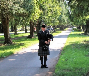Funeral, Bagpiping, Ely-Cardiff,