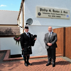 Funeral-Bagpiping, Swansea, Locations,