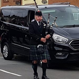 Funeral-Bagpipes, Llanrumney-Cardiff,