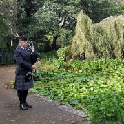 Funeral-Bagpipes, Thornhill-Cemetery,