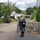 Bagpipes-Funeral, Gwent-Crematorium,