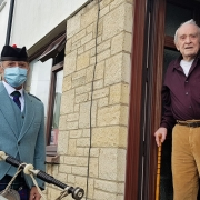 100th-Birthday-Bagpipes, George-LLantrisant,