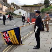 Bagpiping-Armistice-Day, Hay-on-Wye,
