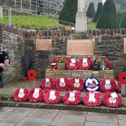 Bagpipes-Remembrance2020, HayOnWye-RBL,