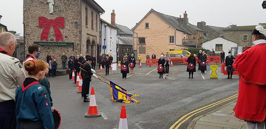 Bagpipes-Remembrance-2020, HayOnWye-RBL,