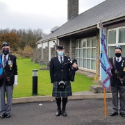 RAF-Veteran-Funeral-Bagpiping, Barry-Crematorium,