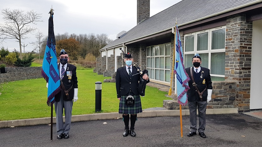 RAF-Veteran-Funeral-Bagpiping, Barry-Crematorium,