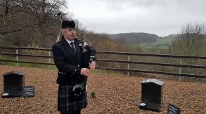 Funeral-Bagpipes, Aberystwyth-Crematorium,