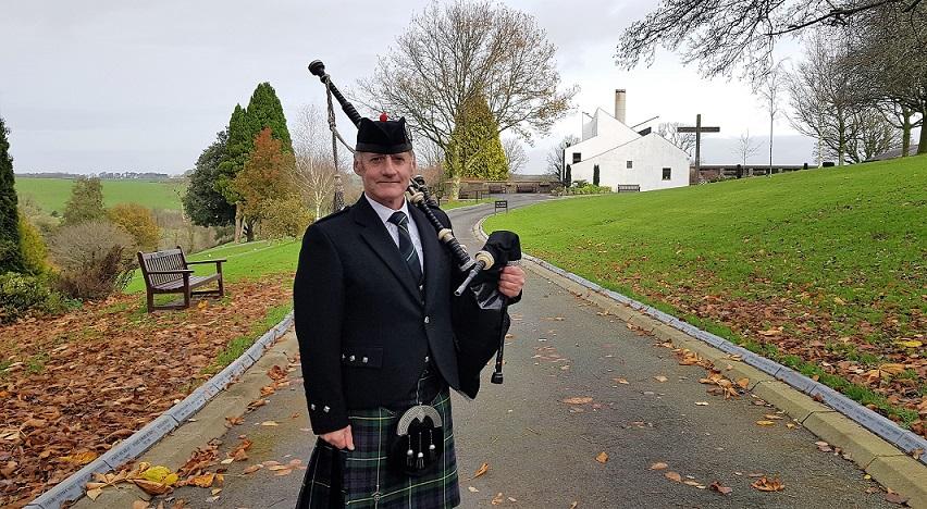 Bagpipes-Funeral, Narberth-Crematorium,