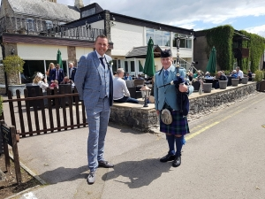 Wedding-Bagpipes, St-Pierre-Hotel-Chepstow,