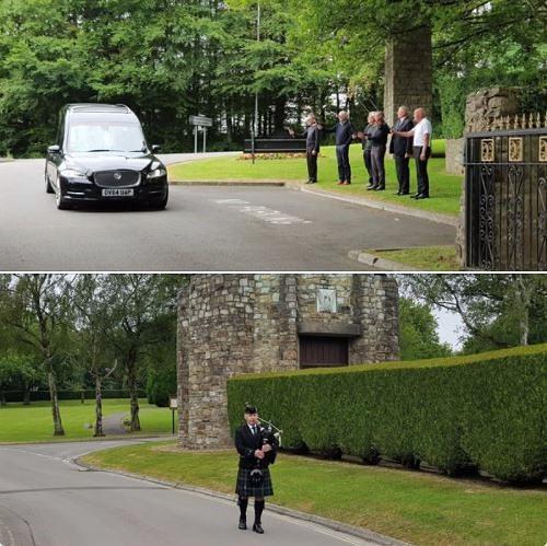 Funeral Bagpipes Coychurch-Crematorium,
