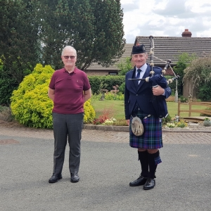 80th-Birthday, Surprise-Bagpipes,
