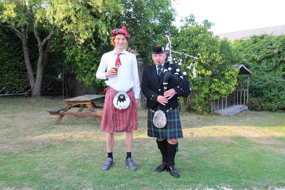 Stag-Event, Surprise-Bagpipes,