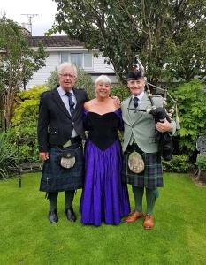Surprise-Bagpipes-80th-Birthday-Cowbridge,
